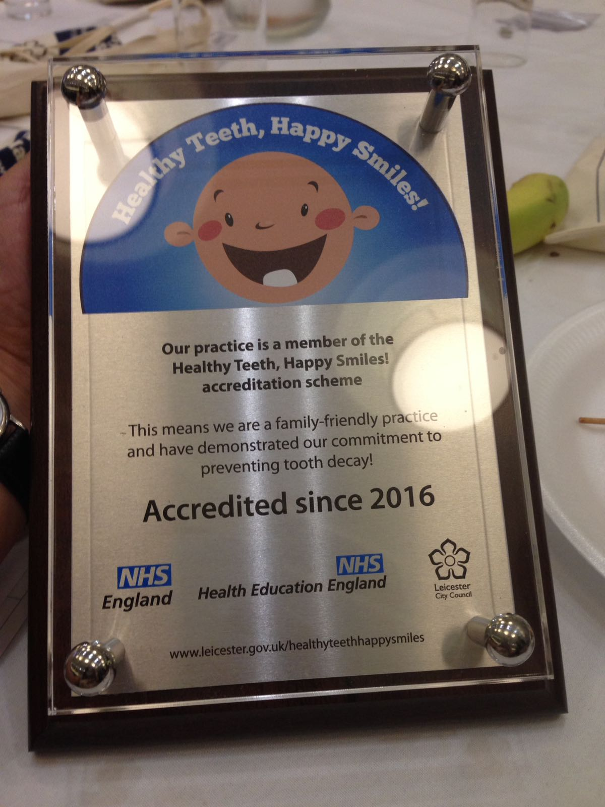 Healthy Teeth, Happy Smiles Accreditation!